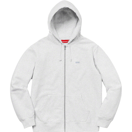Reflective Small Box Zip Up Sweatshirt (Ash Grey)