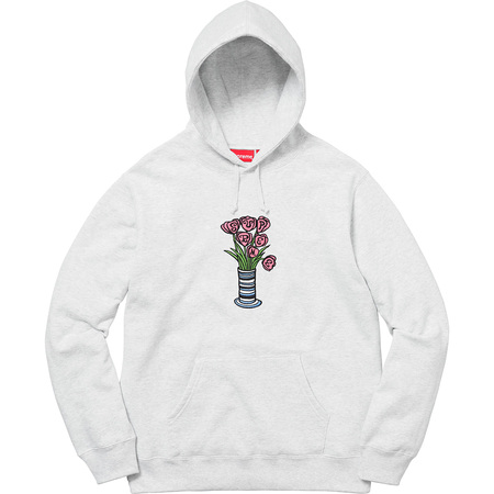 Flowers Hooded Sweatshirt (Ash Grey)