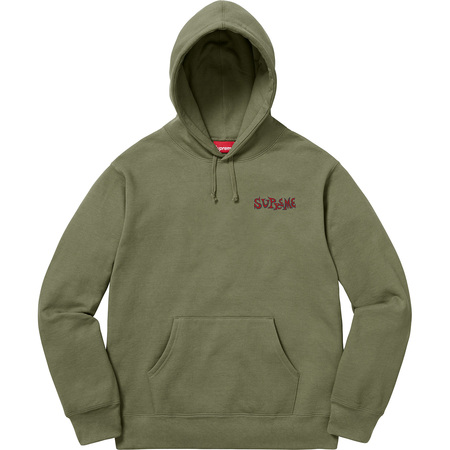 Portrait Hooded Sweatshirt (Light Olive)