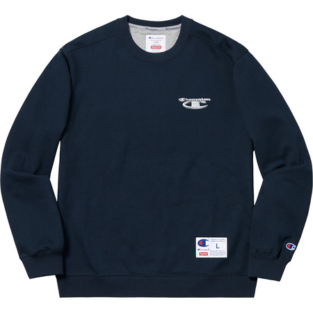 Supreme®/Champion® 3D Metallic Crewneck (Navy)