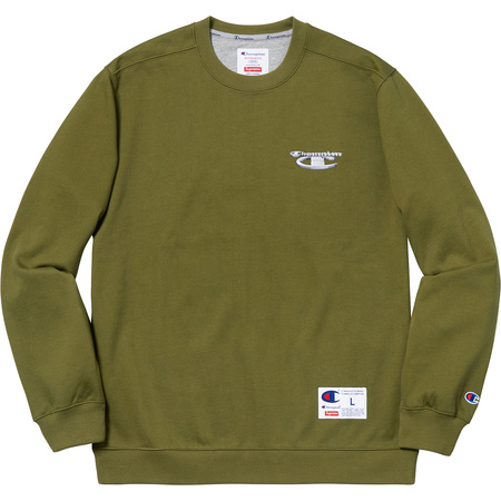 Supreme®/Champion® 3D Metallic Crewneck (Olive)