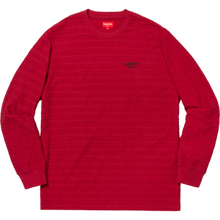 Rope Stripe L/S Top (Dark Red)