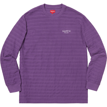 Rope Stripe L/S Top (Purple)