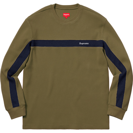 Panel Stripe Waffle Thermal (Olive)
