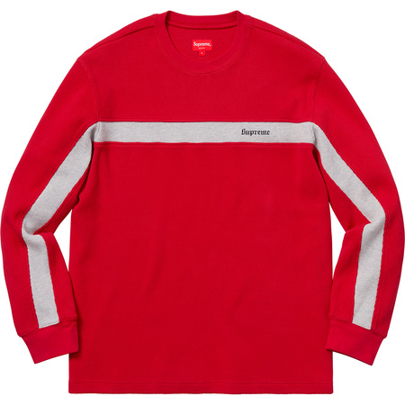 Panel Stripe Waffle Thermal (Red)