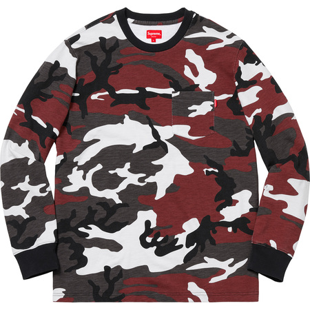 L/S Pocket Tee (Red Camo)