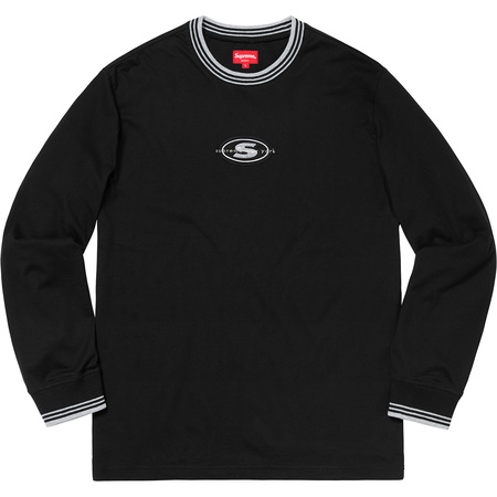 Striped Rib Logo L/S Top (Black)