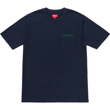 Embroidered Pocket Tee (Navy)