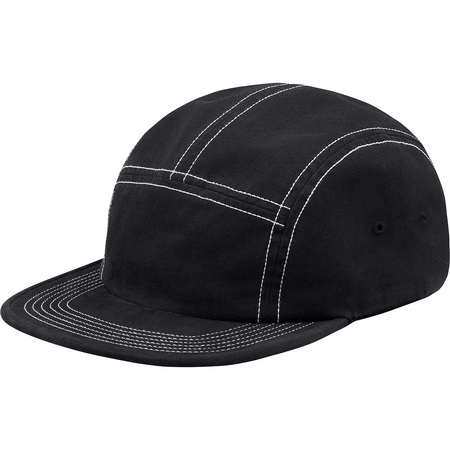 Fitted Rear Patch Camp Cap (Black)