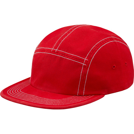 Fitted Rear Patch Camp Cap (Red)