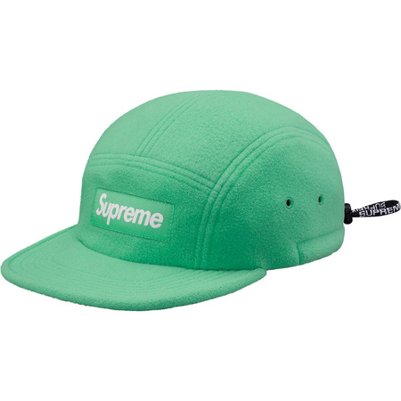 Fleece Pullcord Camp Cap (Green)
