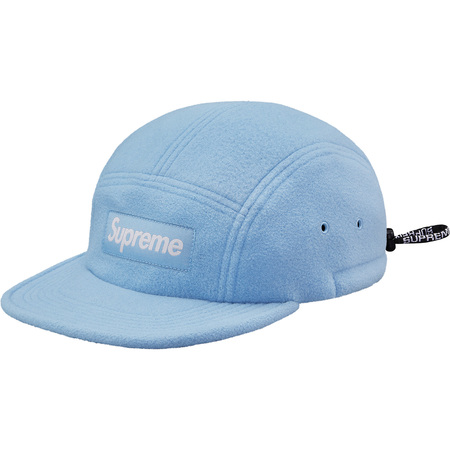 Fleece Pullcord Camp Cap (Light Blue)