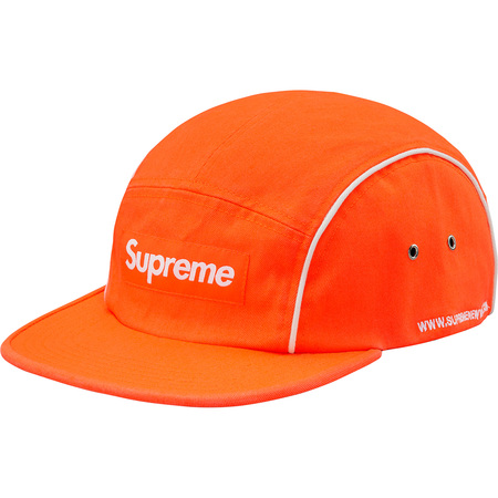 Piping Camp Cap (Neon Orange)