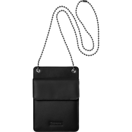 Leather ID Holder + Wallet (Black)