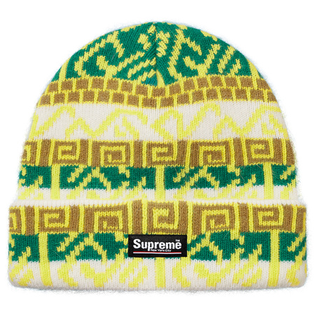 Brushed Pattern Beanie (Green)