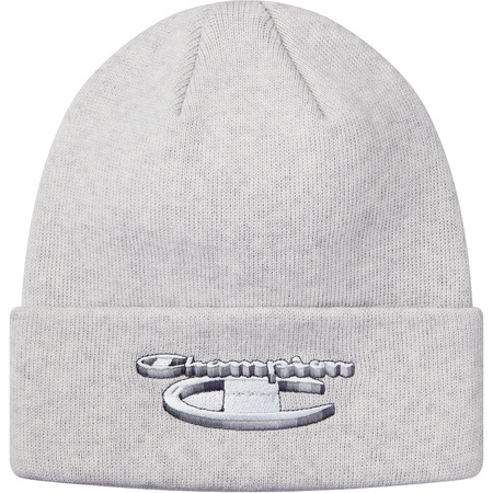 Supreme®/Champion® 3D Metallic Beanie (Ash Grey)