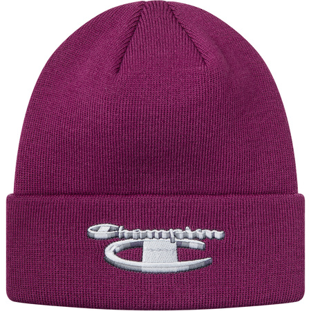 Supreme®/Champion® 3D Metallic Beanie (Bright Purple)