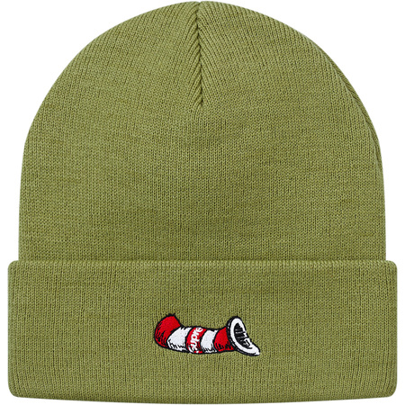 Cat in the Hat Beanie (Light Olive)