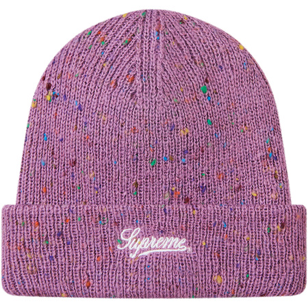 Colored Speckle Beanie (Purple)