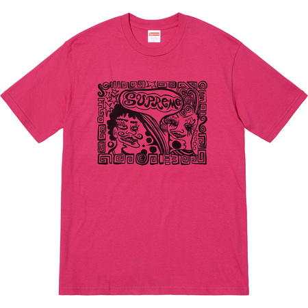 Faces Tee (Dark Pink)