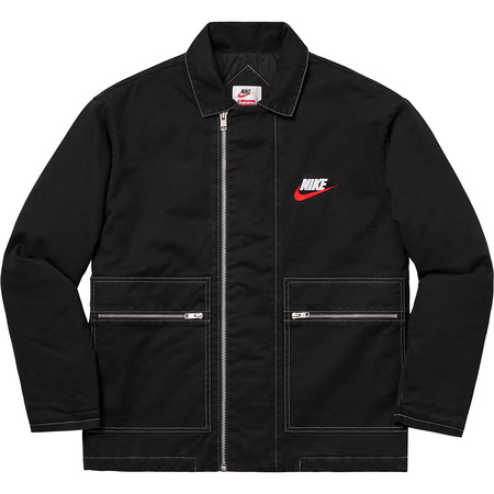 Supreme®/Nike® Double Zip Quilted Work Jacket (Black)