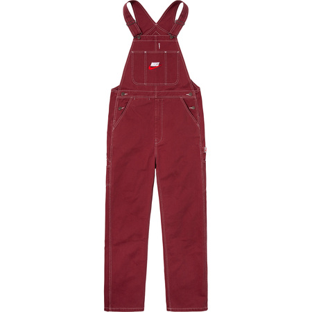 Supreme®/Nike® Cotton Twill Overalls (Burgundy)