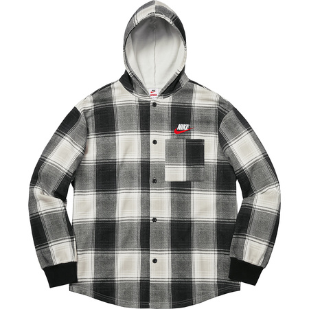 Supreme®/Nike® Plaid Hooded Sweatshirt (Black)
