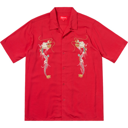 Dragon Rayon Shirt (Red)