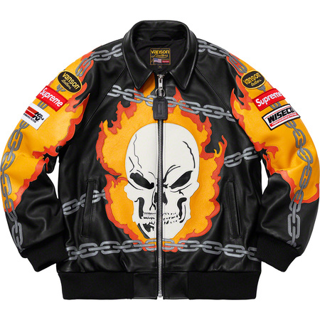 Supreme®/Vanson Leathers® Ghost Rider© Jacket (Black)