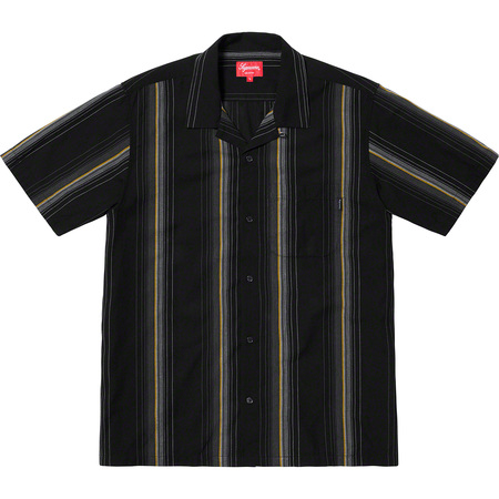Vertical Stripe S/S Shirt (Black)