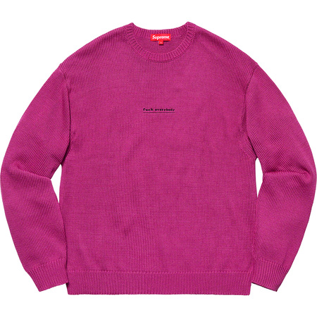 Fuck Everybody Sweater (Magenta)