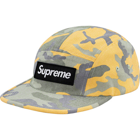 Washed Out Camo Camp Cap (Yellow Camo)