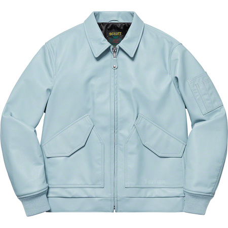Supreme®/Schott® Leather Tanker Jacket (Light Blue)