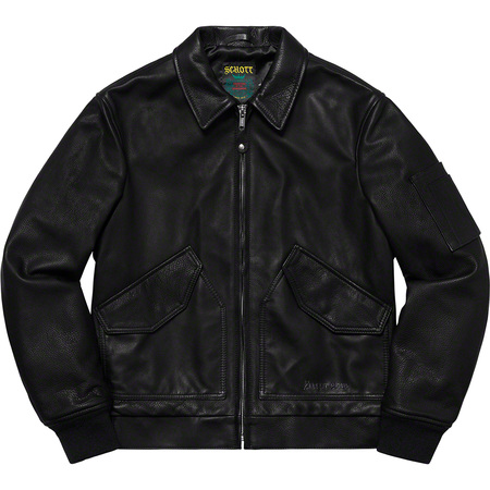 Supreme®/Schott® Leather Tanker Jacket (Black)