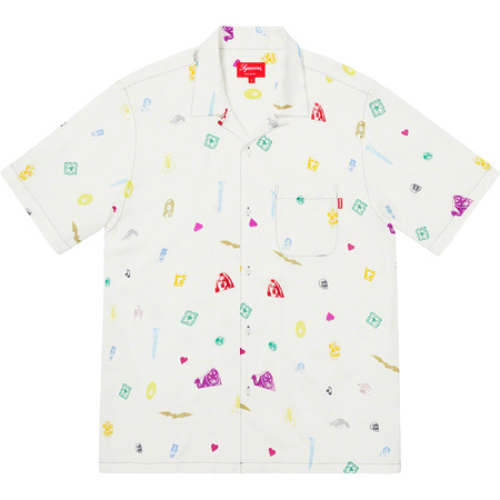 Deep Space Rayon S/S Shirt (White)