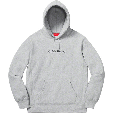 Le Luxe Hooded Sweatshirt (Heather Grey)