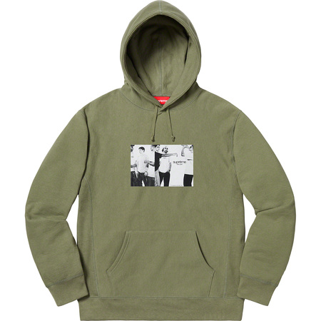 Classic Ad Hooded Sweatshirt (Light Olive)