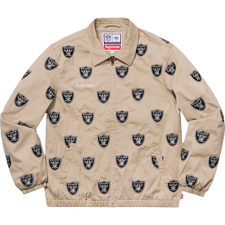 Supreme®/NFL/Raiders/'47 Embroidered Harrington Jacket (Khaki)