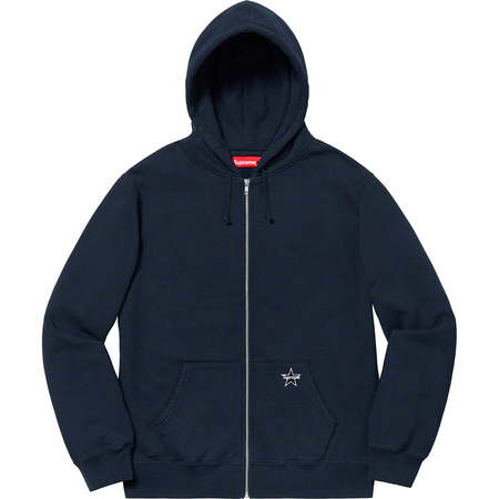 Star Zip Up Sweatshirt (Navy)