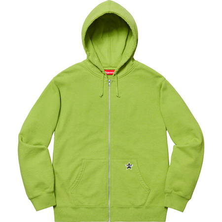 Star Zip Up Sweatshirt (Lime)