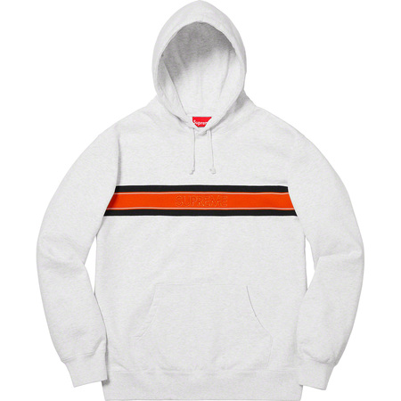 Chest Stripe Logo Hooded Sweatshirt (Ash Grey)