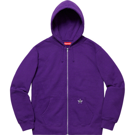 Star Zip Up Sweatshirt (Purple)