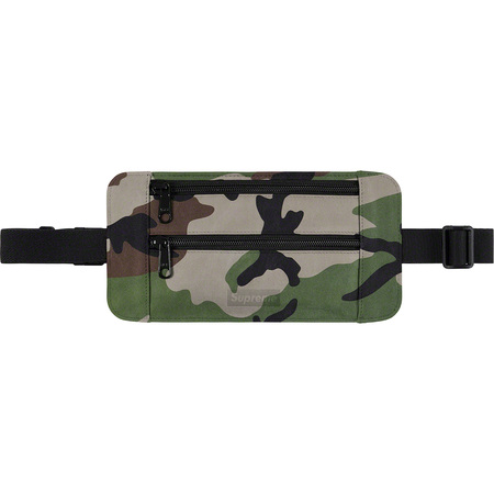 Leather Waist/Shoulder Pouch (Woodland Camo)