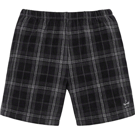Plaid Velour Short (Black)