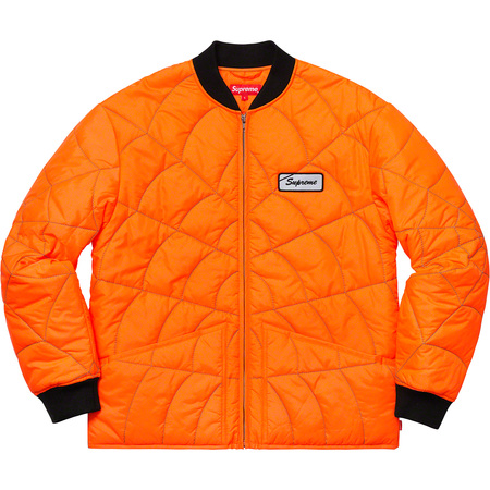 Spider Web Quilted Work Jacket (Orange)
