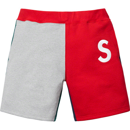 S Logo Colorblocked Sweatshort (Red)