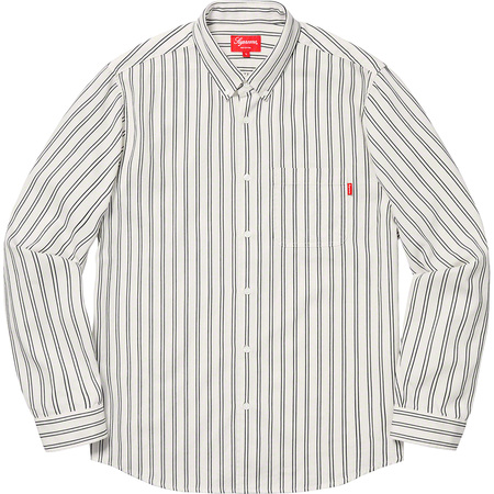 Stripe Twill Shirt (White)