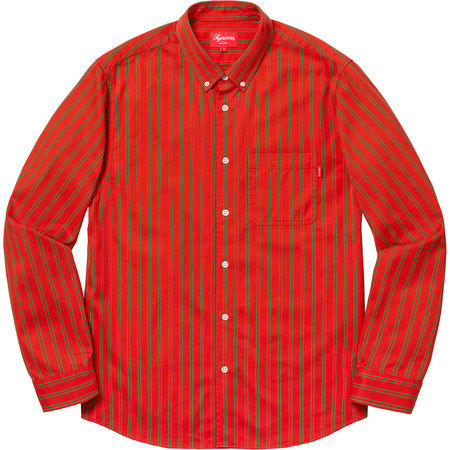 Stripe Twill Shirt (Orange)