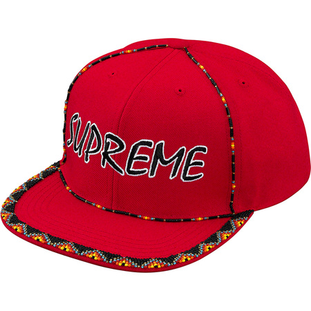 Beaded 6-Panel (Red)