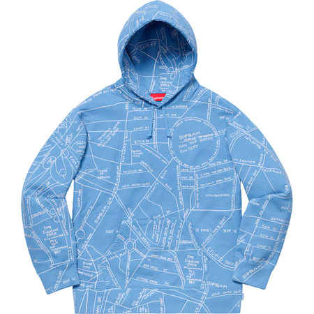 Gonz Embroidered Map Hooded Sweatshirt (Columbia Blue)